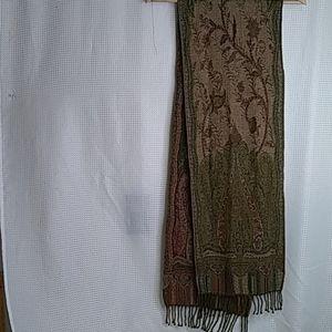 Sacred threads wool rayon blend scarf